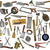 vintage kitchen utensils collage over white stock photo © reddaxluma
