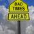 kötü · önde · sorunları · gelecek · yol · işareti · sarı - stok fotoğraf © reddaxluma