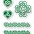 celtic green heart knot   vector symbols set stock photo © redkoala