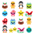 christmas kawaii icons   christmas pudding penguin gingerbread man stock photo © redkoala