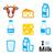 melk · kaas · geïsoleerd · iconen · zure · room - stockfoto © redkoala