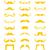 bıyık · bıyık · simgeler · gülümseme · parti · yüz - stok fotoğraf © redkoala