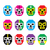 lucha libre luchador pixelated mexican wrestling masks icons stock photo © redkoala