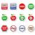 gmo food no gmo or gmo free icons set stock photo © redkoala