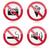 vector · establecer · signos · alimentos · fuego - foto stock © redkoala