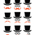 ginger mustache or moustache with hat and glasses icons set stock photo © redkoala