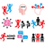 adhd   attention deficit hyperactivity disorder vector icons set stock photo © redkoala