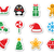 christmas icons as colourful labels set stock photo © redkoala