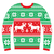 ugly christmas jumper or sweater with reindeer and snowflakes red and green pattern stock photo © redkoala
