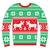 csúnya · karácsony · pulóver · rénszarvas · hópelyhek · piros - stock fotó © redkoala
