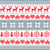 winter christmas red and grey seamless pattern nordic background with reindeer and snowflakes stock photo © redkoala