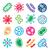 bactérias · vírus · conjunto · vetor · ícone · ícones - foto stock © redkoala