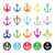 anchor icons set   symbol of sailors sea and christian symbol of hope stock photo © redkoala