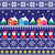 christmas jumper or sweater seamless pattern with santa and houses stock photo © redkoala