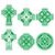 irish scottish celtic green cross on white vector sign stock photo © redkoala