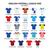 english football league one jerseys 2016   2017 vector icons set stock photo © redkoala