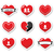 ayarlamak · hacim · kalpler · aşıklar · siluet · çift - stok fotoğraf © redkoala