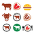 beef meat cow vector icon set stock photo © redkoala