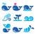 water · iconen · golven · verschillend · ontwerp · communie - stockfoto © redkoala