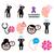seniors health   alzheimers disease and dementia memory loss icons set stock photo © redkoala