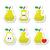 pear pear core bitten half vector icons stock photo © redkoala
