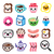 kawaii breakfast food and beverages cute vector icons set   toast eggs bacon coffee stock photo © redkoala