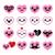 kawaii hearts valentines day cute vector icons set stock photo © redkoala