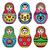 matryoshka russian doll colorful icons set stock photo © redkoala