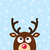 vector reindeer christmas card with snow background stock photo © redkoala
