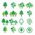 najaar · bomen · ingesteld - stockfoto © redkoala