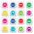 moustache · moustache · coloré · vecteur · icônes · différent - photo stock © redkoala