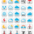 weather forecast colorful vector buttons set stock photo © redkoala