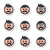 man with moustache or mustache avatar vector icons set stock photo © redkoala