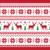 christmas and winter knitted seamless pattern or card with deer   scandynavian style stock photo © redkoala