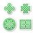 Kelt · desen · vektör · ayarlamak · geleneksel · semboller - stok fotoğraf © redkoala