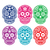 mexican sugar skull dia de los muertos colorful icons set stock photo © redkoala