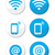 wifi network internet zone blue labels set   vector stock photo © redkoala
