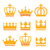 crown royal family gold icons set stock photo © redkoala