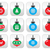 サンタクロース · 青 · クリスマス · デザイン · 雪 - ストックフォト © redkoala