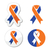 navy blue and orange ribbons   family caregivers awareness icons stock photo © redkoala