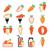 коллекция · цвета · иконки · интернет · веб · зеленый - Сток-фото © redkoala