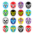 lucha libre mexican wrestling masks icons stock photo © redkoala