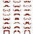 brown moustache or mustache vector icons set stock photo © redkoala