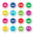 moustache or mustache round colorful vector icons stock photo © redkoala