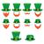 vector · establecer · día · de · san · patricio · iconos · fondo · verde - foto stock © redkoala
