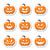 halloween pumkin vector orange icons set stock photo © redkoala