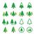 dwa · christmas · drzew · śniegu · sezon · zimowy · drzewo - zdjęcia stock © redkoala