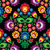 seamless traditional floral polish pattern on black stock photo © redkoala
