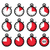 time clock stopwatch red vector icons set stock photo © redkoala