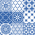 moroccan tiles design seamless navy blue pattern collections stock photo © redkoala